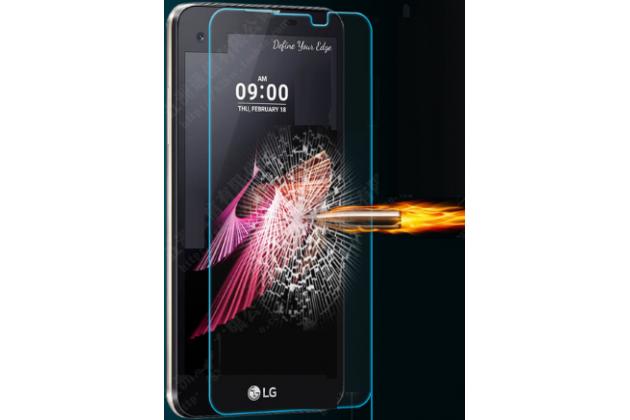 """Защитное закалённое противоударное стекло премиум-класса из качественного японского материала с олеофобным покрытием для телефона lg x view lgk500ds / x screen k500y 4.93"""""""