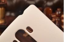 Задняя панель-крышка-накладка из тончайшего и прочного пластика для lg g4 beat / g4s  белая