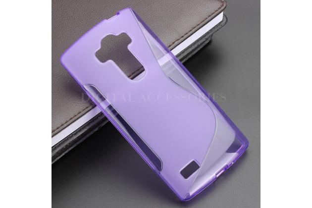 Ультра-тонкая полимерная из мягкого качественного силикона задняя панель-чехол-накладка для lg g4 beat / g4s фиолетовая