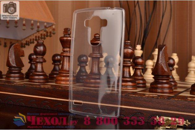 Ультра-тонкая полимерная из мягкого качественного силикона задняя панель-чехол-накладка для  lg g4 beat / g4s белая
