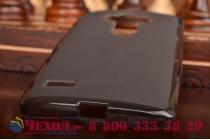 Ультра-тонкая полимерная из мягкого качественного силикона задняя панель-чехол-накладка для  lg g4 beat / g4s черная