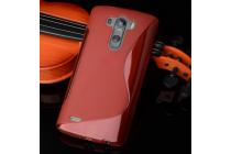 Ультра-тонкая полимерная из мягкого качественного силикона задняя панель-чехол-накладка для lg g4 beat / g4s красная