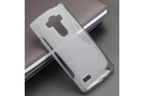 Ультра-тонкая полимерная из мягкого качественного силикона задняя панель-чехол-накладка для lg g4 beat / g4s серая