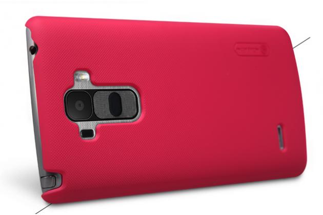 Задняя панель-крышка-накладка из тончайшего и прочного пластика для lg g4 beat / g4s красная