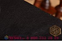 Чехол-кейс из импортной кожи quick circle для lg g4 beat / g4s с умным окном черный