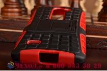Противоударный усиленный ударопрочный чехол-бампер-пенал для lg leon h324 красный