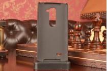 Металлическая задняя панель-крышка-накладка из тончайшего облегченного авиационного алюминия для lg leon  серебристая