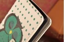 """Уникальный необычный чехол-книжка для lg leon h340 """"тематика сова"""""""
