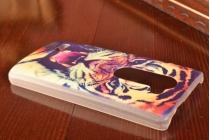 """Необычная уникальная пластиковая задняя панель-чехол-накладка для lg leon h340 """"тематика тигр"""""""