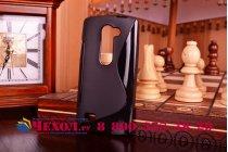 Ультра-тонкая полимерная из мягкого качественного силикона задняя панель-чехол-накладка для lg leon h324  черная