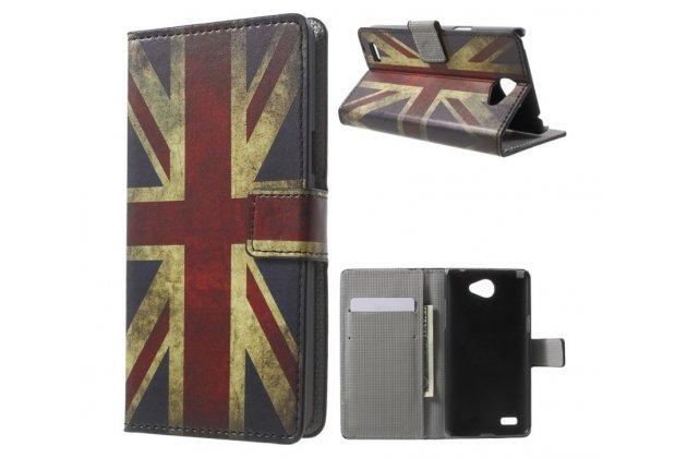 """Уникальный необычный чехол-книжка для lg max x155 5.0"""" """"тематика британский флаг"""""""