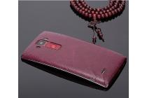 """Нашивка из натуральной импортной кожи на заднюю крышку телефона для lg g flex 2 (h959)""""  темно-красная"""
