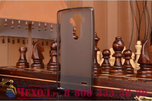 Ультра-тонкая полимерная из мягкого качественного силикона задняя панель-чехол-накладка для lg g flex 2 (h959) черная