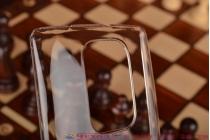 Задняя панель-крышка-накладка из тончайшего и прочного пластика для lg g flex 2 (h959) прозрачная