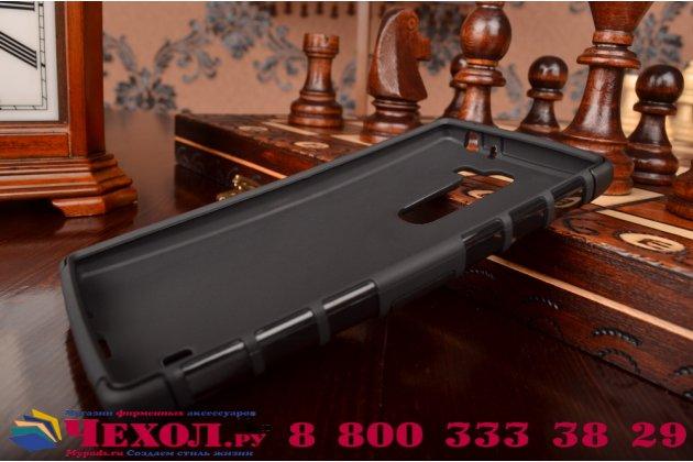 Противоударный усиленный ударопрочный чехол-бампер-пенал для lg magna h502 черный