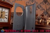 Чехол-книжка для lg g4c h525n черный  кожаный с окошком для входящих вызовов
