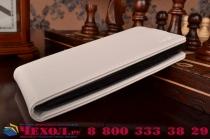 """Вертикальный откидной чехол-флип для  lg g4c h525n белый кожаный """"prestige"""" италия"""