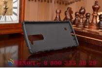 Противоударный усиленный ударопрочный чехол-бампер-пенал для lg g4c h525n черный