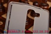 Ультра-тонкая полимерная из мягкого качественного силикона задняя панель-чехол-накладка для  lg g4c h525n белая