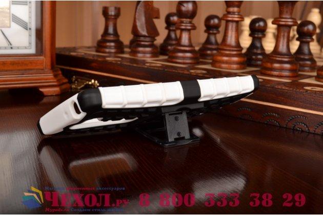 Противоударный усиленный ударопрочный чехол-бампер-пенал для lg g4c h525n белый