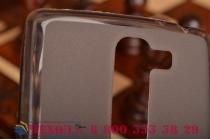 Ультра-тонкая полимерная из мягкого качественного силикона задняя панель-чехол-накладка для  lg g4c h525n серая