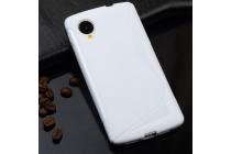Ультра-тонкая полимерная из мягкого качественного силикона задняя панель-чехол-накладка для  lg google nexus 5 d821 белая