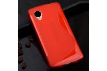 Ультра-тонкая полимерная из мягкого качественного силикона задняя панель-чехол-накладка для lg google nexus 5 d821 красная