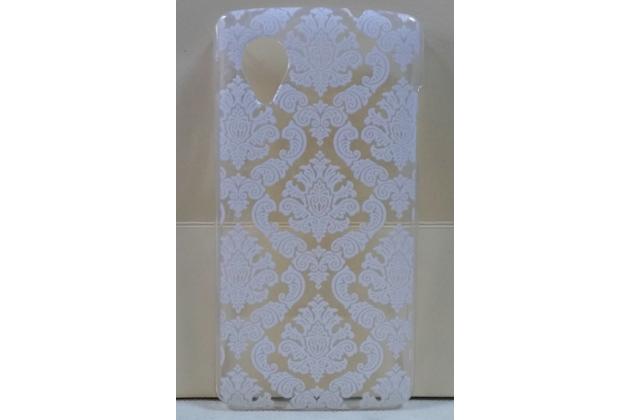 Роскошная задняя панель-чехол-накладка с расписным узором для lg google nexus 5 d821  прозрачная белая