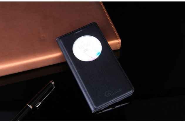 Чехол-книжка для lg g3 s mini d724/d722 черный с окошком для входящих вызовов водоотталкивающий