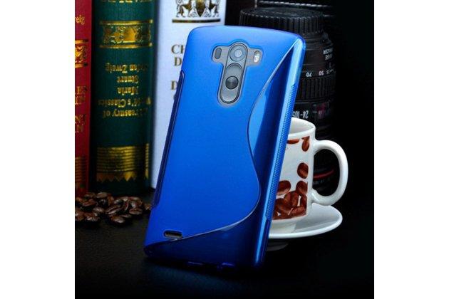 Ультра-тонкая полимерная из мягкого качественного силикона задняя панель-чехол-накладка для lg g3 s mini d724/d722 синяя