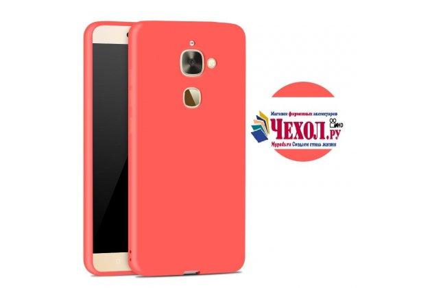 Ультра-тонкая полимерная из мягкого качественного силикона задняя панель-чехол-накладка для leeco (letv) le s3 ecophone 5.5 (x622 / x626) красная