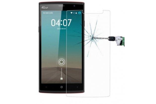 Защитное закалённое противоударное стекло премиум-класса из качественного японского материала с олеофобным покрытием для  leagoo elite 5