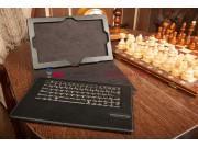 Фирменный оригинальный чехол со съёмной Bluetooth-клавиатурой для Lenovo IdeaTab Lynx K3011 черный кожаный + г..