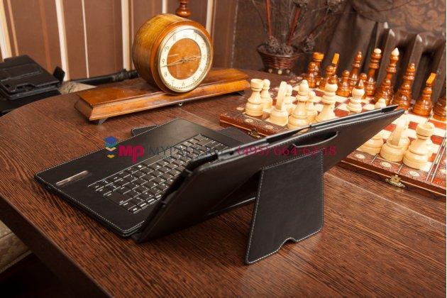 Чехол со съёмной bluetooth-клавиатурой для lenovo ideatab lynx k3011 черный кожаный + гарантия
