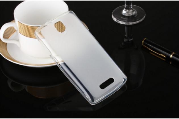 """Ультра-тонкая полимерная из мягкого качественного силикона задняя панель-чехол-накладка для  lenovo a1000/ a2800 /a2800d 4.0"""" белая"""