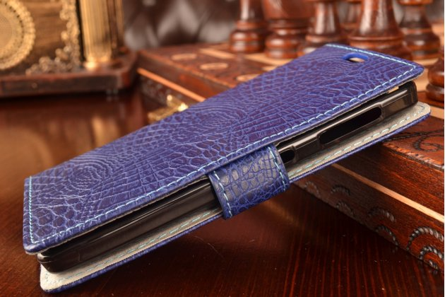 """Чехол-книжка с подставкой для lenovo a1000/ a2800 /a2800d 4.0"""" лаковая кожа крокодила фиолетовый"""