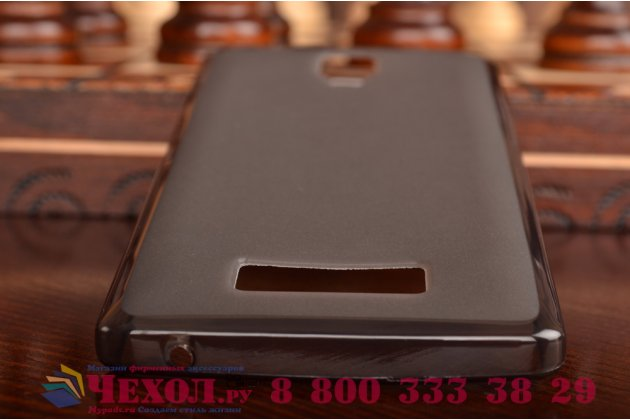 Ультра-тонкая полимерная из мягкого качественного силикона задняя панель-чехол-накладка для lenovo a2010 черная