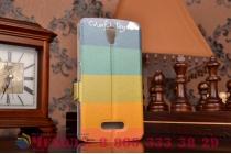 """Уникальный необычный чехол-книжка для lenovo a2010 4.5"""" """"тематика все цвета радуги"""""""