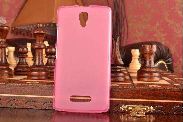 Ультра-тонкая полимерная из мягкого качественного силикона задняя панель-чехол-накладка для lenovo a2010 розовая