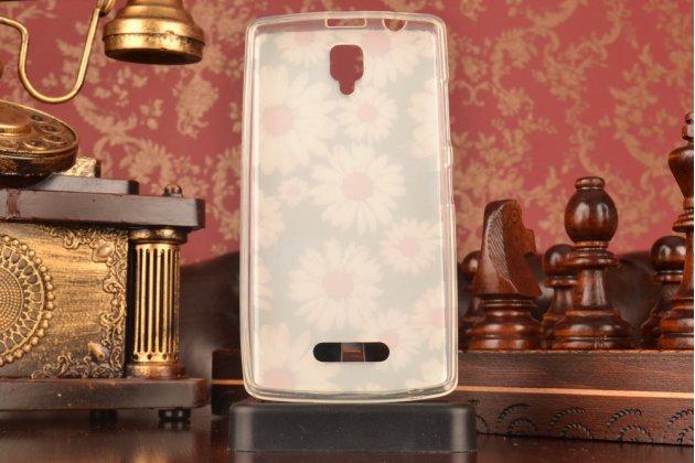 """Необычная силиконовая задняя панель-чехол-накладка для lenovo a2010 """"тематика ромашки"""""""