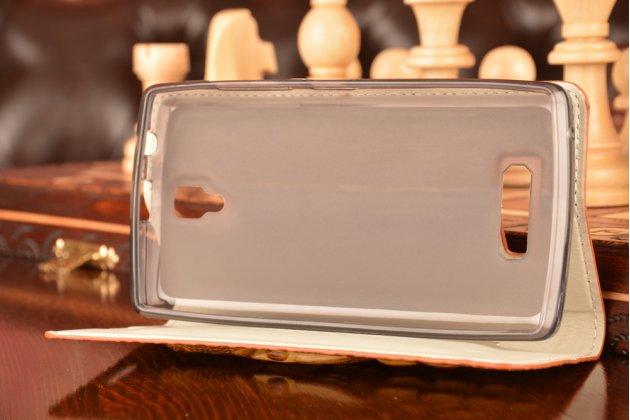 Роскошный эксклюзивный чехол с объёмным 3d изображением кожи крокодила коричневый для lenovo a2010 . только в нашем магазине. количество ограничено