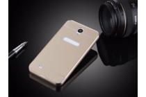 """металлическая задняя панель-крышка-накладка из тончайшего облегченного авиационного алюминия для lenovo a3600 /a3600d / a3800 / a3800d 4.5"""" золотая"""