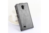"""Вертикальный откидной чехол-флип для  lenovo a3600 /a3600d / a3800 / a3800d 4.5"""" черный из натуральной кожи """"prestige"""" италия"""
