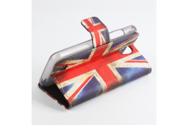 """Уникальный необычный чехол-книжка для lenovo a3600 /a3600d / a3800 / a3800d 4.5"""" """"тематика британский флаг"""""""