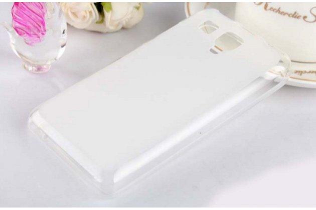 Ультра-тонкая полимерная из мягкого качественного силикона задняя панель-чехол-накладка для lenovo a396 / a238t белая