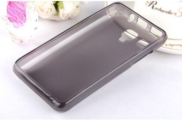 Ультра-тонкая полимерная из мягкого качественного силикона задняя панель-чехол-накладка для lenovo a396 / a238t черная