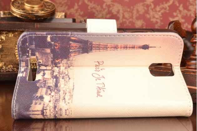 """Уникальный необычный чехол-подставка для lenovo a5000 5.0""""  """"тематика париж"""""""