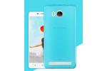 """Фирменная ультра-тонкая силиконовая задняя панель-чехол-накладка для Lenovo A5600 / A5860 / A5890 ( 5.5""""/ Android 5.1 / MediaTek MT6735) голубая"""