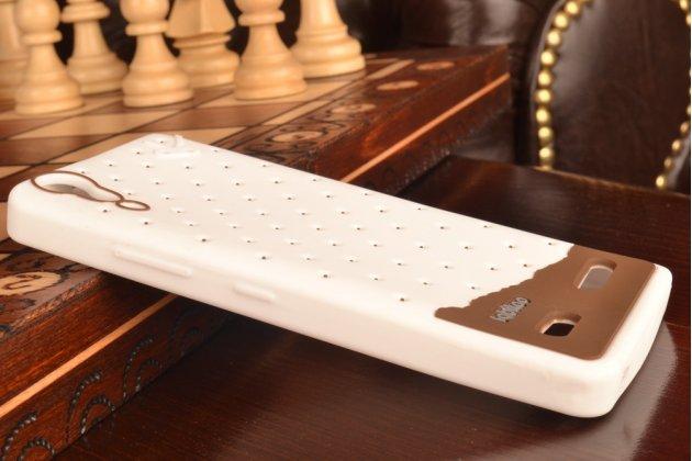"""Необычная уникальная полимерная мягкая задняя панель-чехол-накладка для lenovo k3 music lemon """"тематика андроид в белом шоколаде"""""""