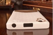 """Необычная уникальная полимерная мягкая задняя панель-чехол-накладка для lenovo a6000/ a6010 plus """"тематика андроид в белом шоколаде"""""""